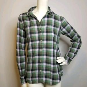 The North Face Womens Plaid Button Down Shirt S